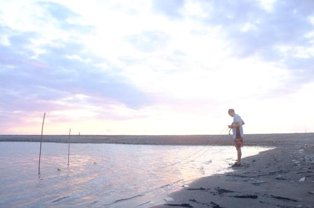 recording in the cepo' lagoon